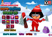 Dora Skiing Dress Game game