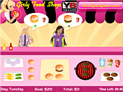 Girly Food Shop game