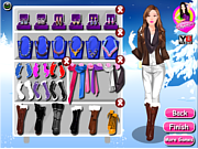 Winter Barbie Dressup game
