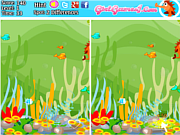 Play Five differences with fish Game
