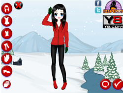 Christmas Beauty Dress Up game