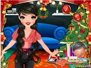 Play Christmas party makeover Game