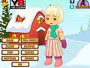 X mas Snow Kid Dress Up game