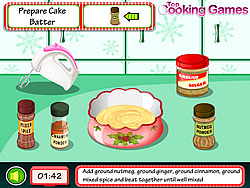 Cooking Christmas Cake game