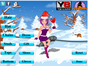 Play Winter christmas dress up Game
