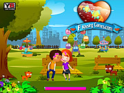 Play Sam kissing 4 park kissing Game