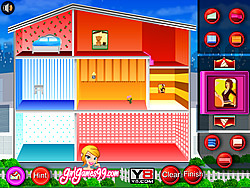 เล่นเกมฟรี Doll House Decoration Game