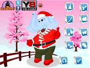 Play Christmas elephant dress up Game