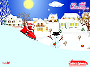 Play Santa clause with snowmobile Game