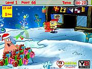 Spongebob and Patrick Xmas Gifts game