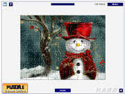 Cute Snowmen Jigsaw game