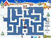 Santa Skating Maze game