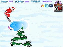 Snowboarding Santa game