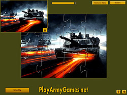 Permainan Tanks in Action Jigsaw