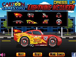 Lightning McQueen Dress Up game