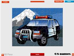 Police Car Jigsaw game