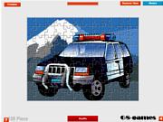 Juega al juego gratis Police Car Jigsaw