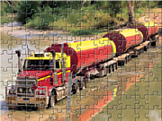 Play Road train truck puzzle Game