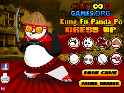 Kung Fu Po Dress Up game