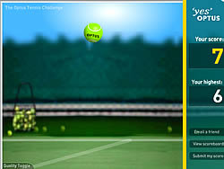 Optus Tennis Challenge game