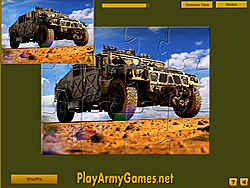Military Hummer Jigsaw game