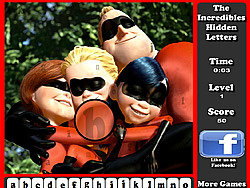The Incredibles Hidden Letters game