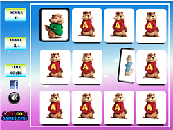 Alvin and the Chipmunks Memory game