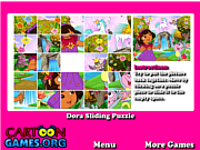 Play Dora sliding puzzle Game