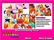 Winx Club Sliding Puzzle game
