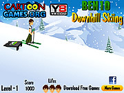 Play Ben 10 downhill skiing Game