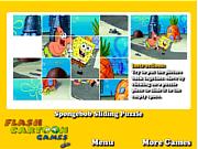 Play Spongebob sliding puzzle Game
