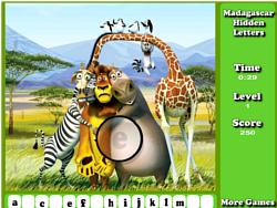 Madagascar Hidden Letters game
