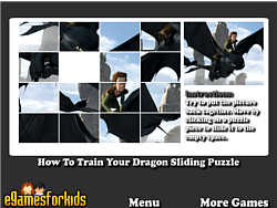 How To Train Your Dragon Sliding Puzzle game