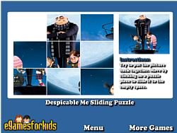 Despicable Me Sliding Puzzle game