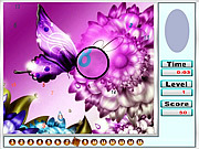 Fantastic Butterflies Hidden Numbers game