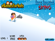 Play Dora downhill skiing Game