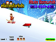 Play Alvin downhill skiing Game