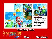 Play Mario sliding puzzle Game