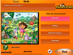 Dora The Exploer Quiz game