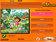 Play Dora the exploer quiz Game