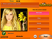 Play Ashley tisdale quiz Game