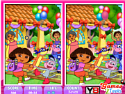 Play 10 differences dora the explorer Game