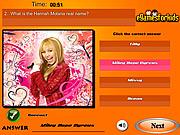 Play Hannah montana quiz Game