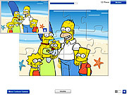 Play Simpsons on the beach Game