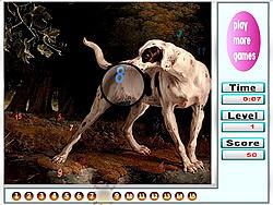 Big Garden Doggies Hidden Numbers game