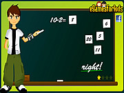 Play Ben 10 math game Game