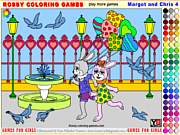 Play Margot and chris 4 - rossy coloring games Game