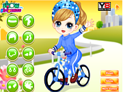 Play The little girl learn bicycle Game