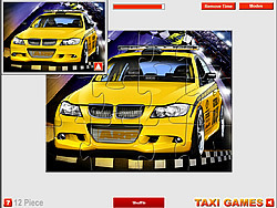 Sport Taxi Jigsaw game