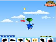Play Blue panda fruit catcher Game